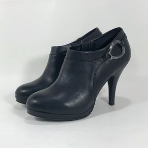 """Reba 'Branch' Leather 4"""" High Heel Ankle Booties"""